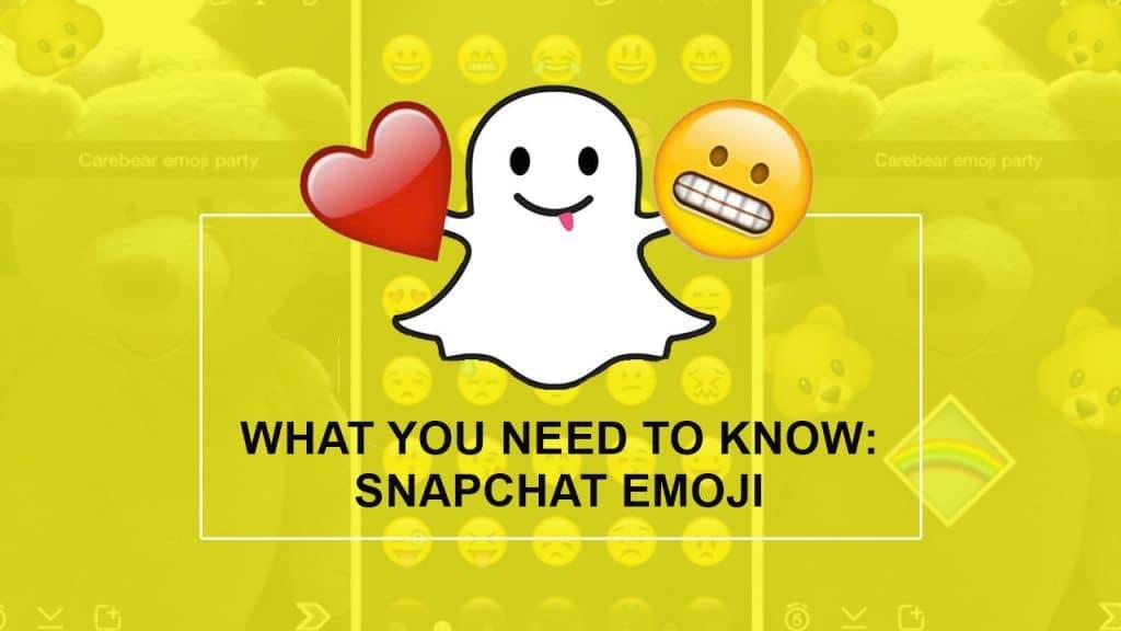 Snapchat Emojis for blog post
