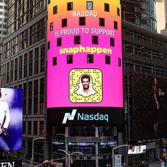 Nasdaq is proud to support SnapHappen (Alex Khan)